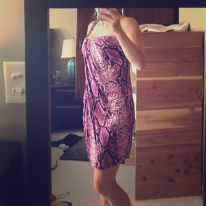 Bebe purple snake print dress